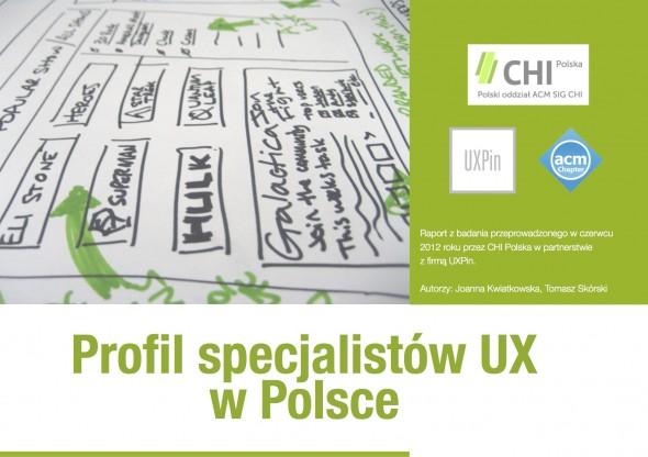 Okladka raportu - badanie specjalistow UX 2012